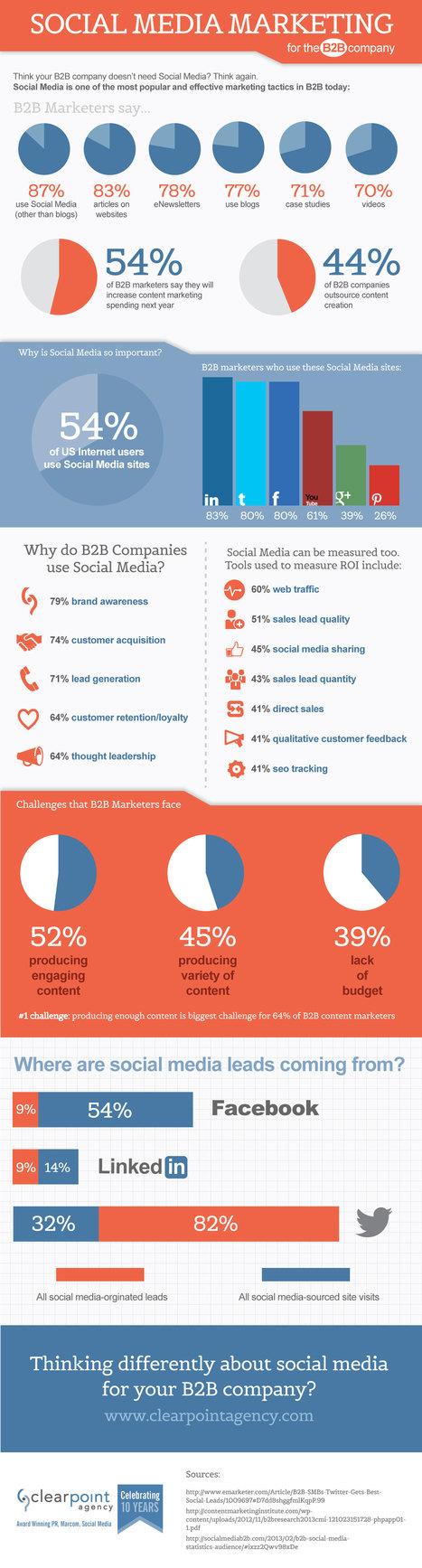 Le marketing des réseaux sociaux en B2B [Infographie] | Social Media Influence | Scoop.it