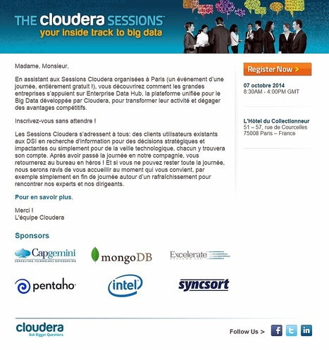 #BigData | The Cloudera Sessions @Paris le 7-Oct | Mobile - BigData - Cloud - Sécurité - FrenchTech Innovations - TrendTech par Excelerate Systems - France | Scoop.it