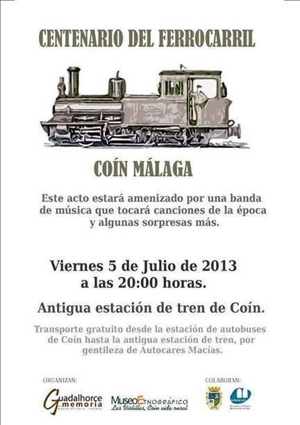 El día 5 de Julio se cumple un siglo de la inauguración de la línea de ferrocarril Coín-Málaga. | Cosas de mi Tierra | Scoop.it