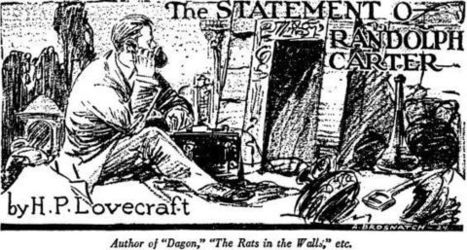 "Early 20th Century Technology in ""The Statement of Randolph Carter"" 