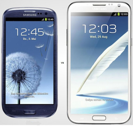 Comparativo: Samsung Galaxy Note 2 X Samsung Galaxy S3 | Android Brasil Market | Scoop.it