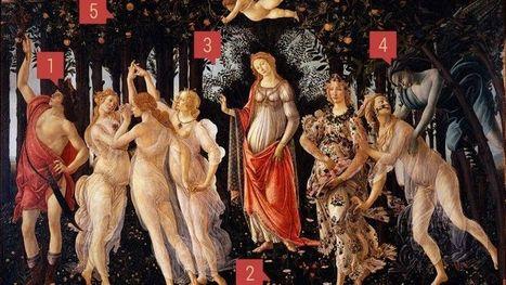 "Botticelli escondeu mensagens na ""Primavera""? | Mitología clásica | Scoop.it"