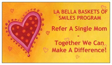 Help send baskets to Single Moms through our Baskets of  Smiles Program. | Gift Giving | Scoop.it