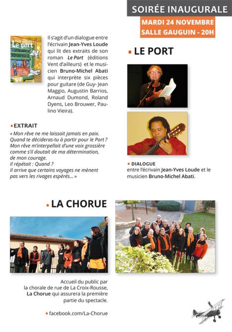 24 novembre: Soirée inaugurale Salon Arnas-Beaujolais - Bruno Michel Abati -  Jean-Yves Loude - La Chorue | Romans régionaux BD Polars Histoire | Scoop.it