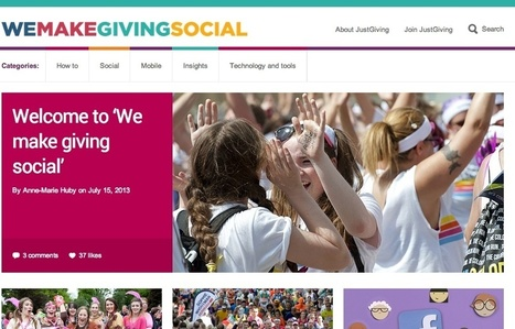 JustGiving starts new blog on social giving to charities | charity | Scoop.it
