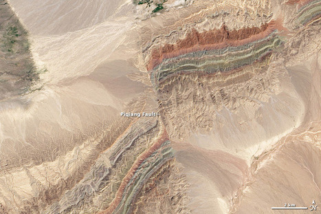 Faults in Xinjiang : Image of the Day | Geography Education | Scoop.it
