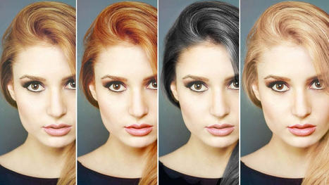 Changer la couleur des cheveux dans Photoshop - Pixfan.com | Photoshop | Scoop.it