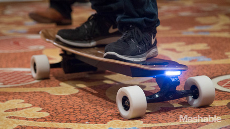 Weight-sensing electric skateboard tops out at 20 mph | Cool Gadgets please | Scoop.it