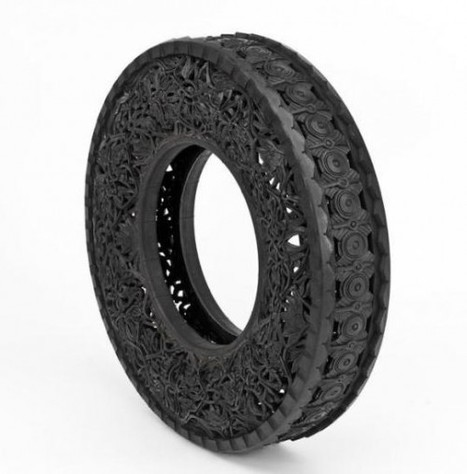 Wim Delvoye's Carved Tires | Beauty Enhancers | Scoop.it