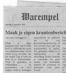 Maak van een Worddocumentje een krantenartikel | Kranten, nieuws en reclame: Mediawijsheid PO | Scoop.it