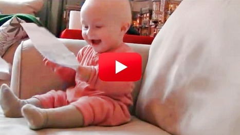 This Baby's Laugh Will Make Your Day! I Couldn't Stop Laughing At The :23 Mark – And Neither Could He! | Cute Kids | Scoop.it
