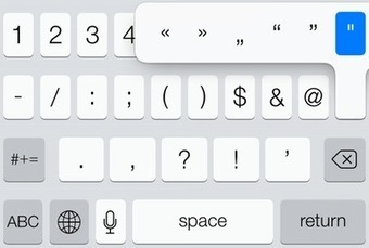 Kirkville | iOS 7 Quick Typing Tips: Quickly Type Capital Letters and ... | Education tips | Scoop.it