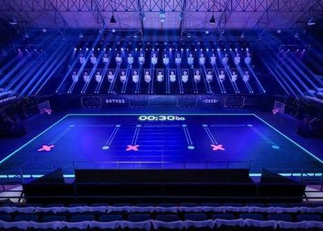 Nike crée un superbe terrain de basket high tech totalement recouvert de LED | streetmarketing | Scoop.it