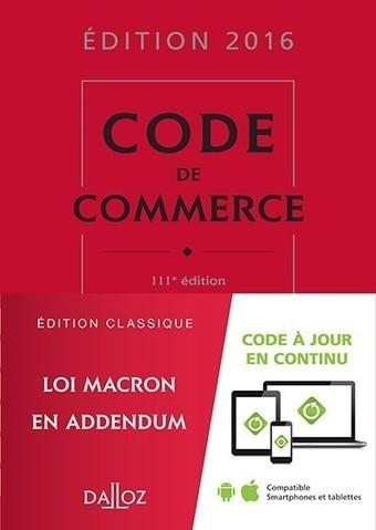 Code de commerce 2016 | Sélection de nouveaux livres | Scoop.it