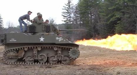 It's Always A Good Day When The Flamethrowing Tank Comes To Town | Airsoft Showoffs | Scoop.it