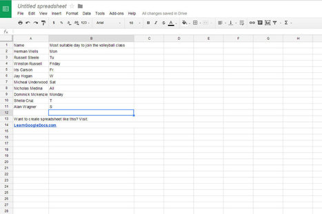 How to add drop-down menu to a spreadsheet? | Learn Google Docs | Chromebook for education | Scoop.it
