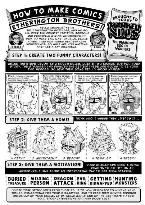 Create Your Own Comic | National Literacy Trust | Comicsforkids | Scoop.it