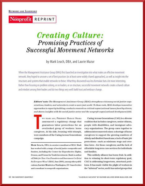 Creating Culture | Network Leadership | Scoop.it