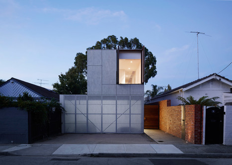 """Perforated shutters """"animate"""" facade of Melbourne residence 