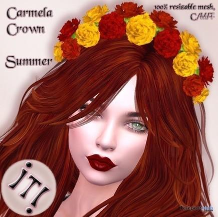 Carmela Crown Summer Teleport Hub Group Gift by IT! | Teleport Hub - Second Life Freebies | Second Life Freebies | Scoop.it