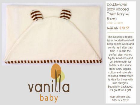 Organic Linen Baby Bath Towels - VanillaBaby | Organic Cotton Baby Goods | Scoop.it