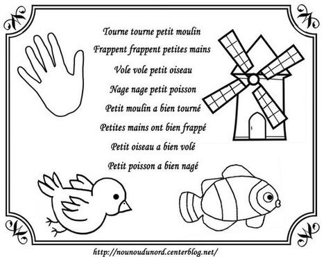 comptine a colorier - Page 3 | Français Pour Petits | Scoop.it