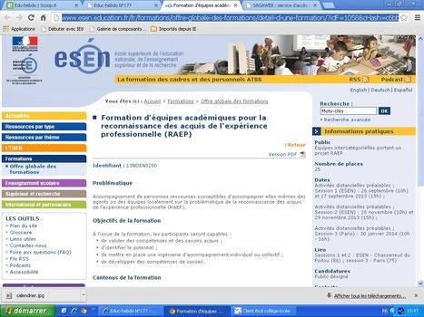 Formation d'équipes académiques pour la reconnaissance des acquis de l'expérience professionnelle (RAEP) | Veille CDI | Scoop.it