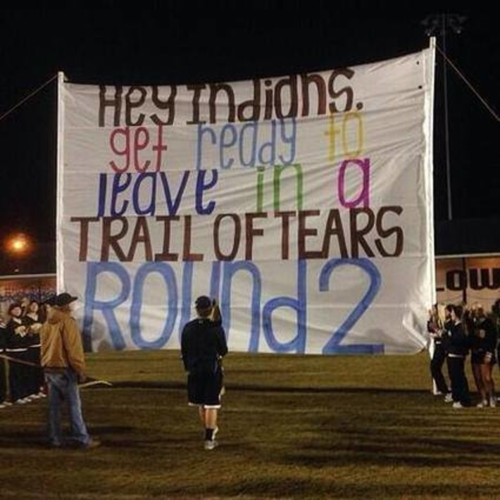 Principal Apologizes for 'Trail of Tears' Banner—Makes it a Teaching Moment | Colorful Prism Of Racism | Scoop.it