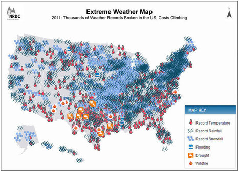 2011 Extreme Weather Map | AnyGeo - GIS, Maps, Mobile and ... | Cartography | Scoop.it