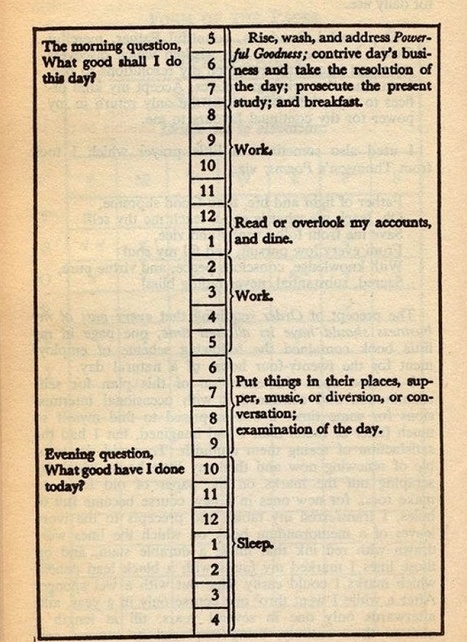I Lived a Day According to Ben Franklin's Schedule and It Changed My Life | Whole Brain Leadership | Scoop.it