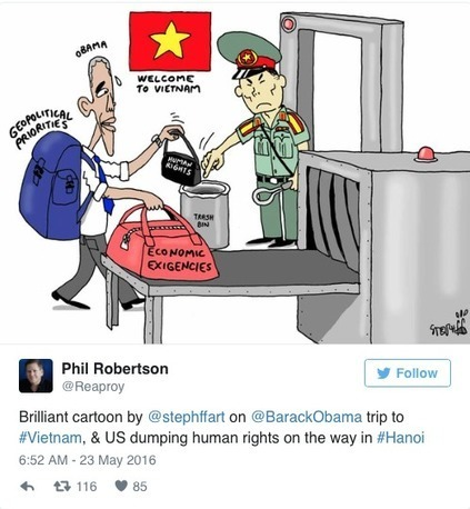 Human Rights Groups Angry Obama Lifted Arms Embargo On Vietnam | Conservative Politics | Scoop.it