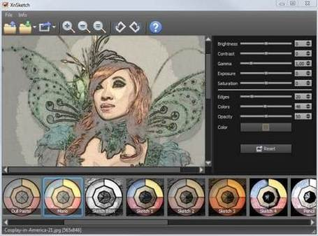 Un programme gratuit pour convertir une photo en dessin, XnSketch | formation 2.0 | Scoop.it