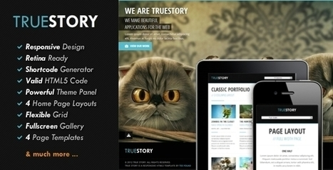 TrueStory - Fullscreen WordPress Theme Download | Hiserz | Scoop.it