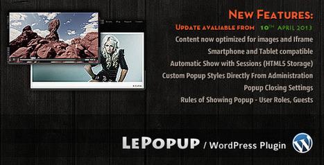 LePopup WordPress Plugin | Blogging Tips and Tricks | Scoop.it