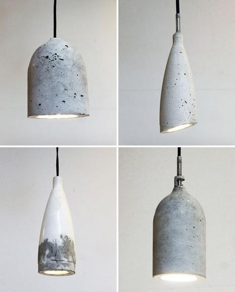 DIY: Concrete Pendant Lamps from Soda Bottle Molds: Remodelista | Kuche Design | Scoop.it