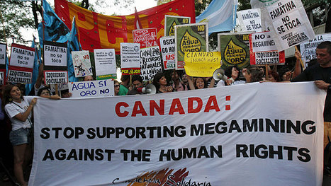 Canadian mining companies subject of worldwide protests - Business - CBC News | Deber estatal de consulta previa | Scoop.it