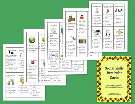 The Lower Elementary Cottage: Social Skills Cards and Behavior Management | special education | Scoop.it