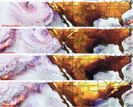 TRMM satellite images show California soaker moved eastward | Remote Sensing | Scoop.it