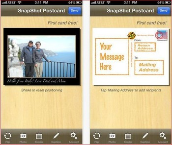 SnapShot Postcard lets you send real postcards from your mobile device | Business in a Social Media World | Scoop.it