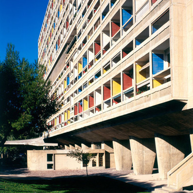Cité Radieuse COMBINES many of Le Corbusier's previous design ideas | The Architecture of the City | Scoop.it