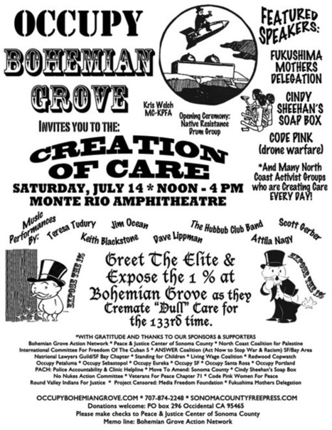 Occupy Activists Join Social Justice Organizations to Protest the 1% at the Bohemian Grove July 14 | OccupyWallSt.org | Mouvement. | Scoop.it