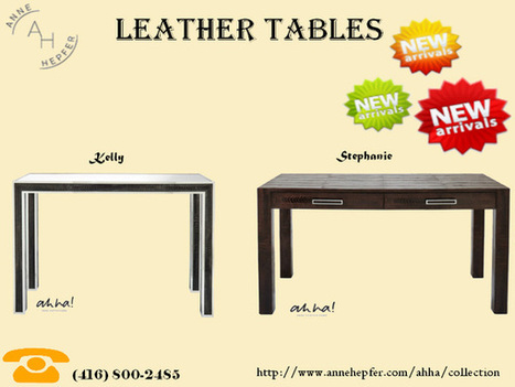 Leather Tables | luxury furniture | Scoop.it
