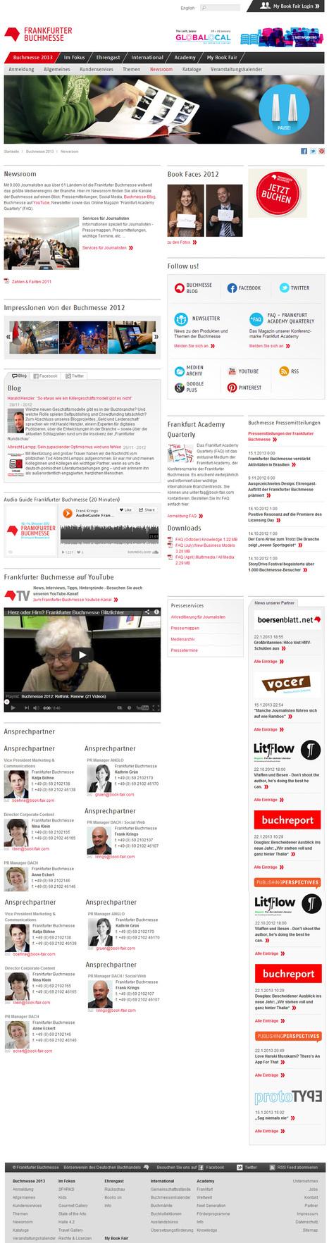 Frankfurter Buchmesse - Newsroom   Social Media Newsrooms   Scoop.it