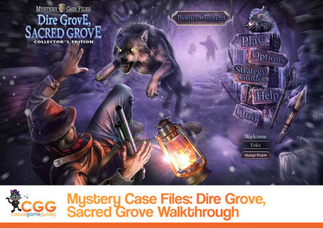 Mystery Case Files: Dire Grove, Sacred Grove Walkthrough: From CasualGameGuides.com | Casual Game Walkthroughs | Scoop.it