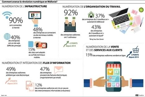 Les PME wallonnes tardent à prendre le train du numérique | InfoPME | Scoop.it