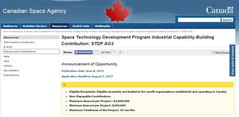 Space Technology Development Program Industrial Capability-Building Contribution: STDP AO3 | More Commercial Space News | Scoop.it