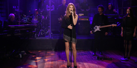 Celine Dion Shows Off Her Legs On 'Late Night with Jimmy Fallon' (PHOTOS) - Huffington Post Canada | Party Dresses | Scoop.it