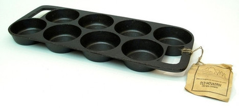 Old Mountain Cast Iron Natural Cookware Preseasoned 8 Impression Biscuit Pan | homeschooling | Scoop.it