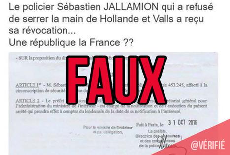 Fausse rumeur sur la révocation du policier qui n'a pas salué Hollande | Déontologie de la presse, cas pratiques | Scoop.it