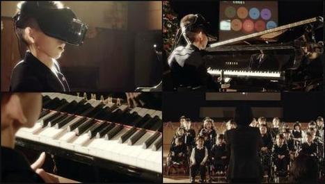 Innovador invento japonés permite a niños con discapacidad tocar el piano solo con la vista   Discapacidad y tecnología   Scoop.it
